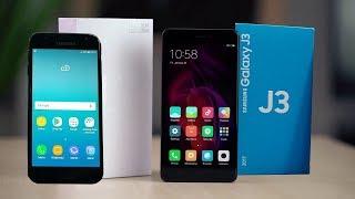 Samsung Galaxy J3 2017 Vs Xiaomi Redmi Note 4x  сравнительное видео