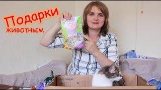 Подарки животным от Кирилла. Распаковка.