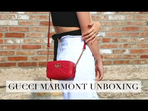 84f7d5fc246a UNBOXING | GUCCI GG MARMONT MINI BAG | WHAT FITS INSIDE? - YouTube