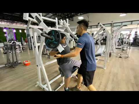 Workout at gold fitness club