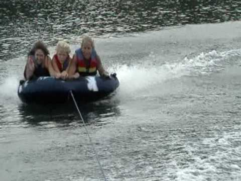 The gals tube on Lake Spivey