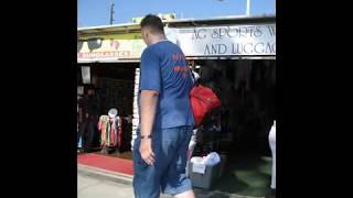 Tallest Man in America Igor Visits Venice Beach California OCT 2008