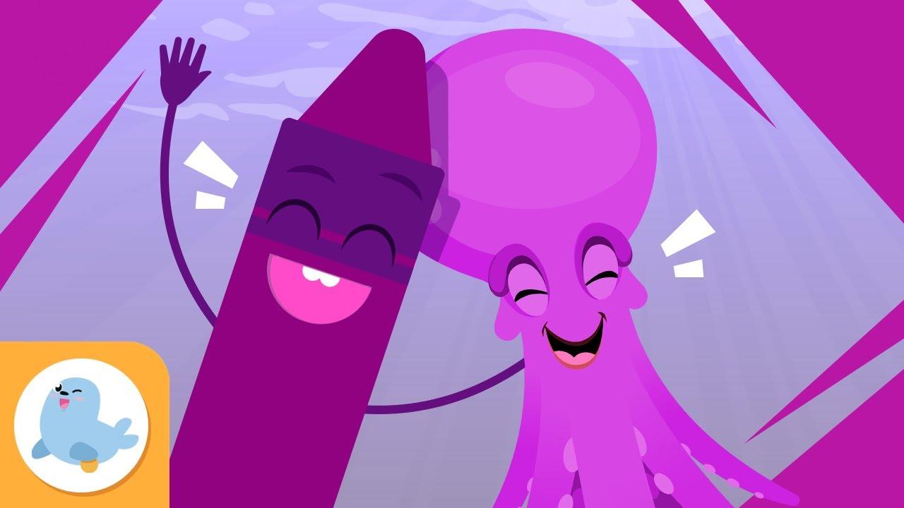 Download El color morado para niños - Aprende los colores - Canciones de los colores