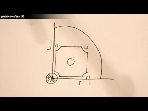 803182eee8c How to draw a baseball field - YouTube