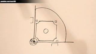 How to draw a baseball field