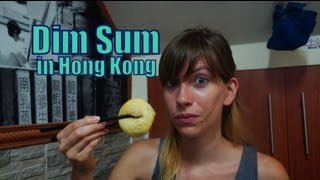 Eating Dim Sum and Drinking Chinese Tea for dinner in Hong Kong, China (香港 點心 - 香港 点心)