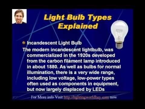 Light Bulb Types Explained Youtube