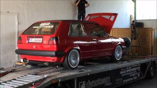 Golf 2 Vr6 GT42 Turbo 4Motion Dyno Prüfstand 2015 kb-racing