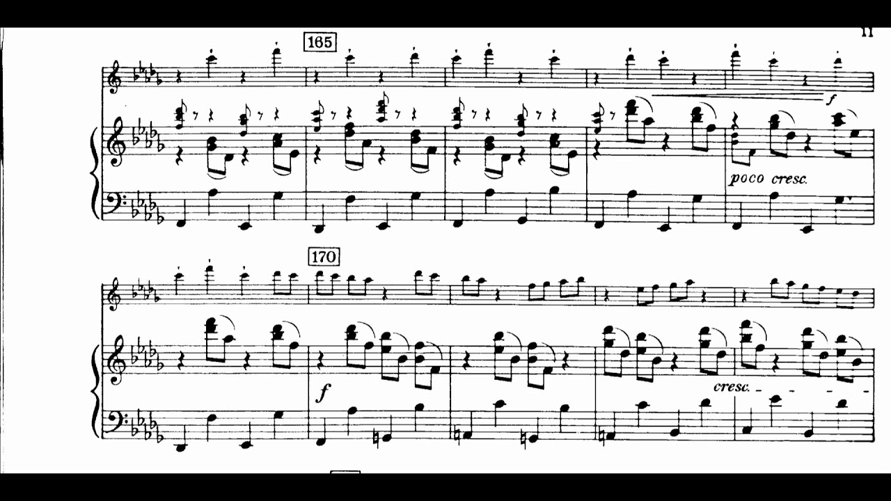 Aaron Copland - Concerto for Clarinet, Strings, Harp and Piano (1947-49) [Score-Video] - YouTube