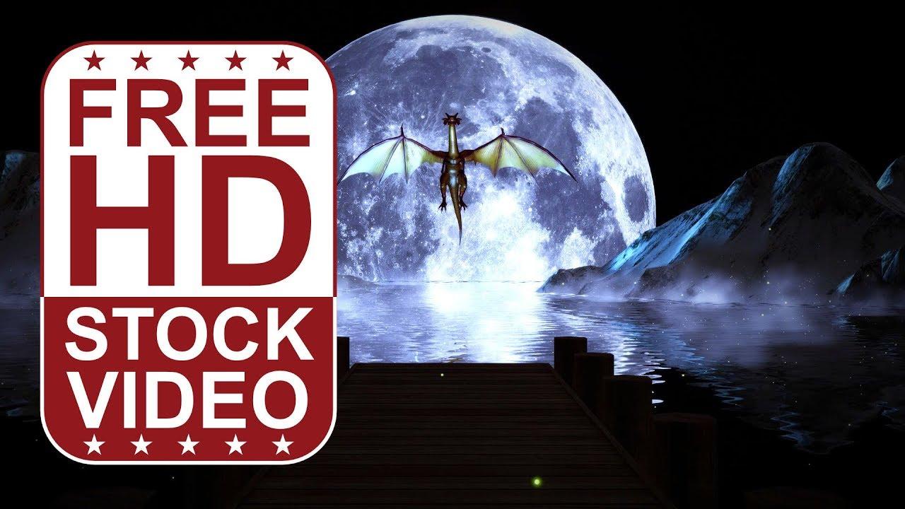 Full Moon Dragon: Full Moon With Dragon Flying