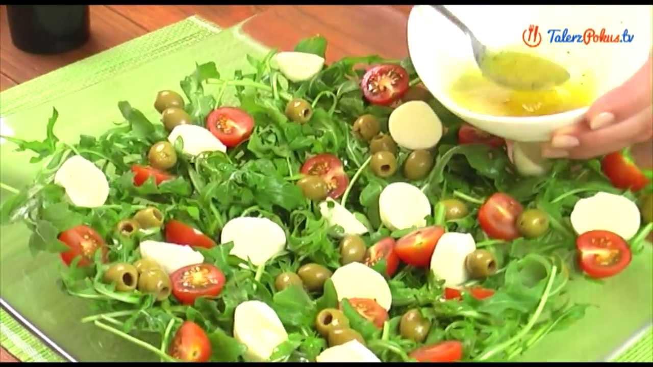 Salatka Z Rukoli Pomidorow I Mozzarelli Talerzpokus Tv Youtube