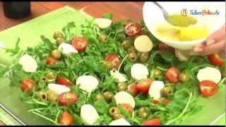 Sałatka z rukoli, pomidorów i mozzarelli - TalerzPokus.tv