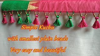 Saree Kuchu/tassel using smallest plain beads- tips and tricks for beginners