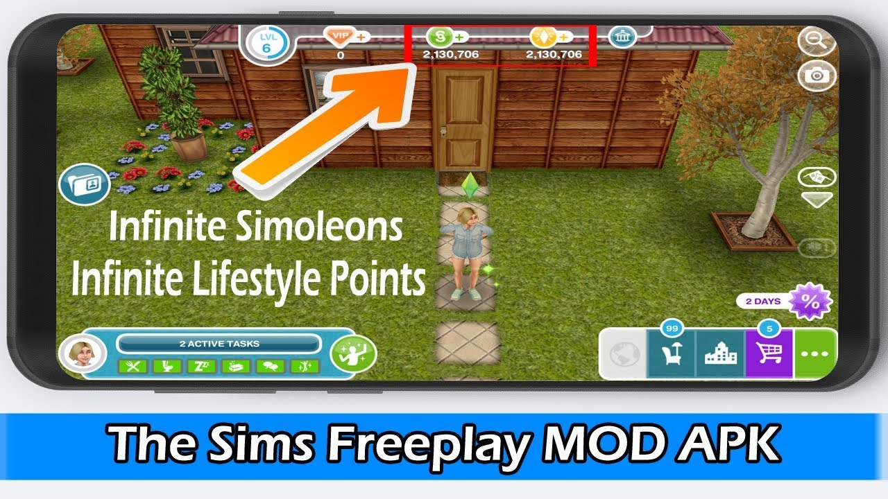 The Sims Freeplay MOD APK 5.49.0 NO ROOT 2019 (Unlimited Money)  #Smartphone #Android