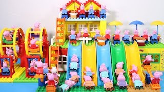 Peppa Pig Lego House Creations With Water Slide Toys For Kids #16