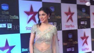 Divya Khosla Navel in Transparent Saree