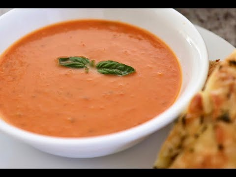 Healthy Tomato & Basil #Soup | #Vitamix #Soups | @TryToCookLikeMum