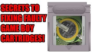 Secrets To Fixing Faulty Game Boy Games!