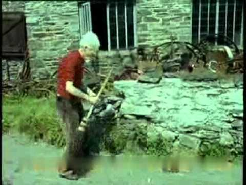 Rare Clip Of Gerald Gardner In Castletown - On The Isle Of Man - Colour