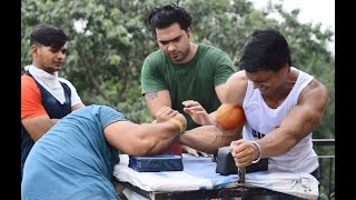 ARM WRESTLING PRACTICE AT DELHI BY WRIST HUNTER
