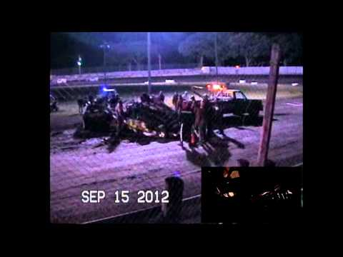 Jake Simpson Algona Raceway Crash Vid#2