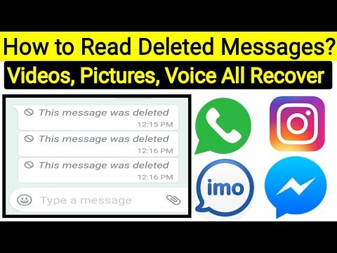 Recover Deleted IMO,WhatsApp,Messenger Messages And Data! New Trick Read Deleted Chats In Urdu/hindi