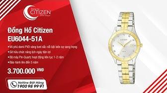 Cận Cảnh Đồng Hồ Citizen Nữ Dây Kim Loại Quartz EU6044-51A