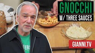 Potato Gnocchi With 3 Sauces, Italian Recipe - Gianni's North Beach