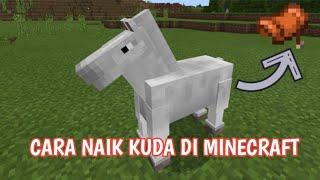 Minecraft tutorial cara menaiki kuda