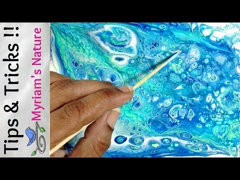 20] SAVE paint & IMPROVE your DIRTY POUR fluid acrylic painting!  Acrylic Pouring Tutorial