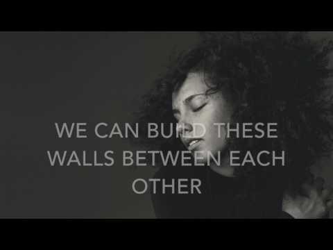 Holy war - Alicia Keys - karaoke male version lower (-5)