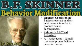 B. F. Skinner / Behavior Modification