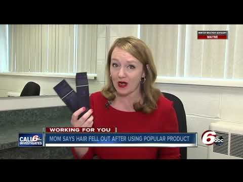 New Palestine mom says popular hair product left family's hair falling out in clumps