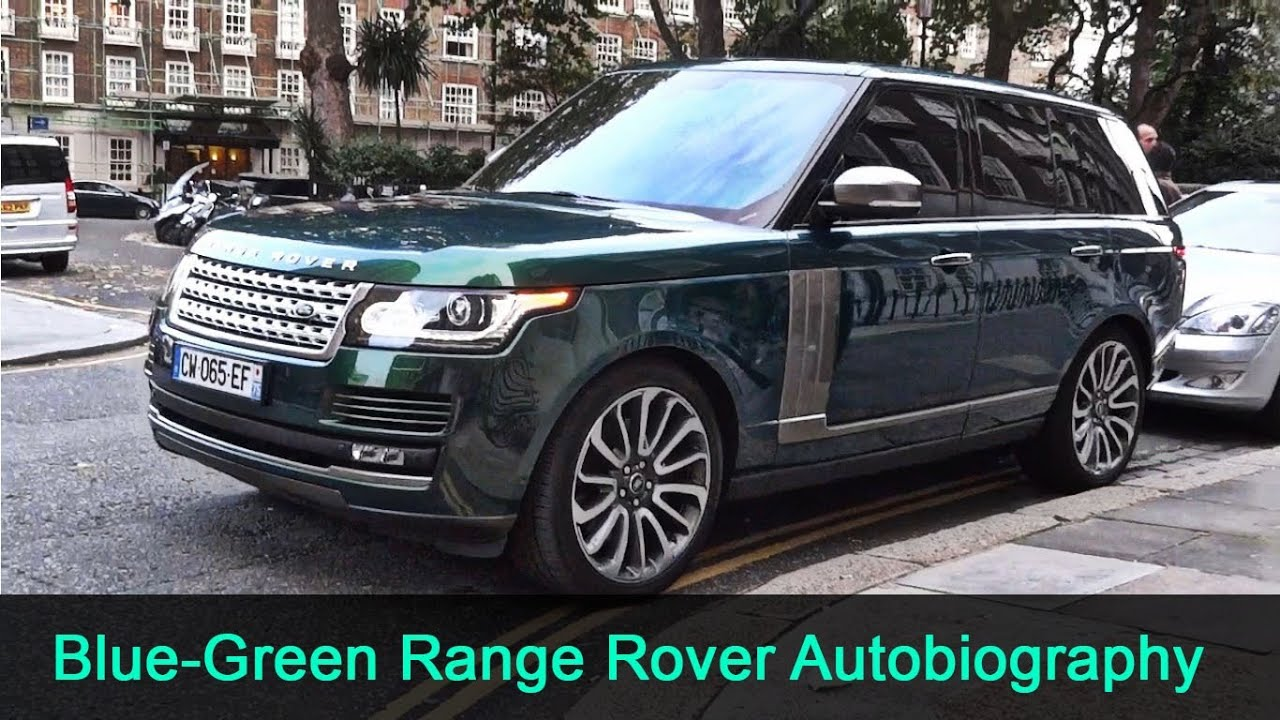 Aintree Green Range Rover Autobiography in London - Static ...