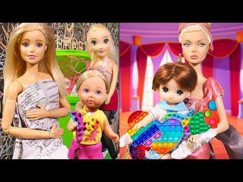 Бедная семья vs богатая семья - у кого какой поп ит / Куклы Мама Барби