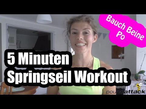 springseil workout 5 minuten bauch beine po training f r zuhause hiit training deutsch youtube. Black Bedroom Furniture Sets. Home Design Ideas