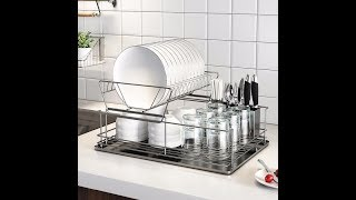 Free shipping Kitchen storage rack shelf Stainless steel bowl rack drain rack shelf tray dish storag