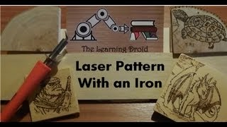 Pyrography - Applying A Pattern With An Iron