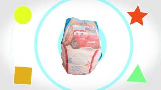 Lightning Mcqueen from Disney/Pixar's Cars pull up diaper speaks to your child!