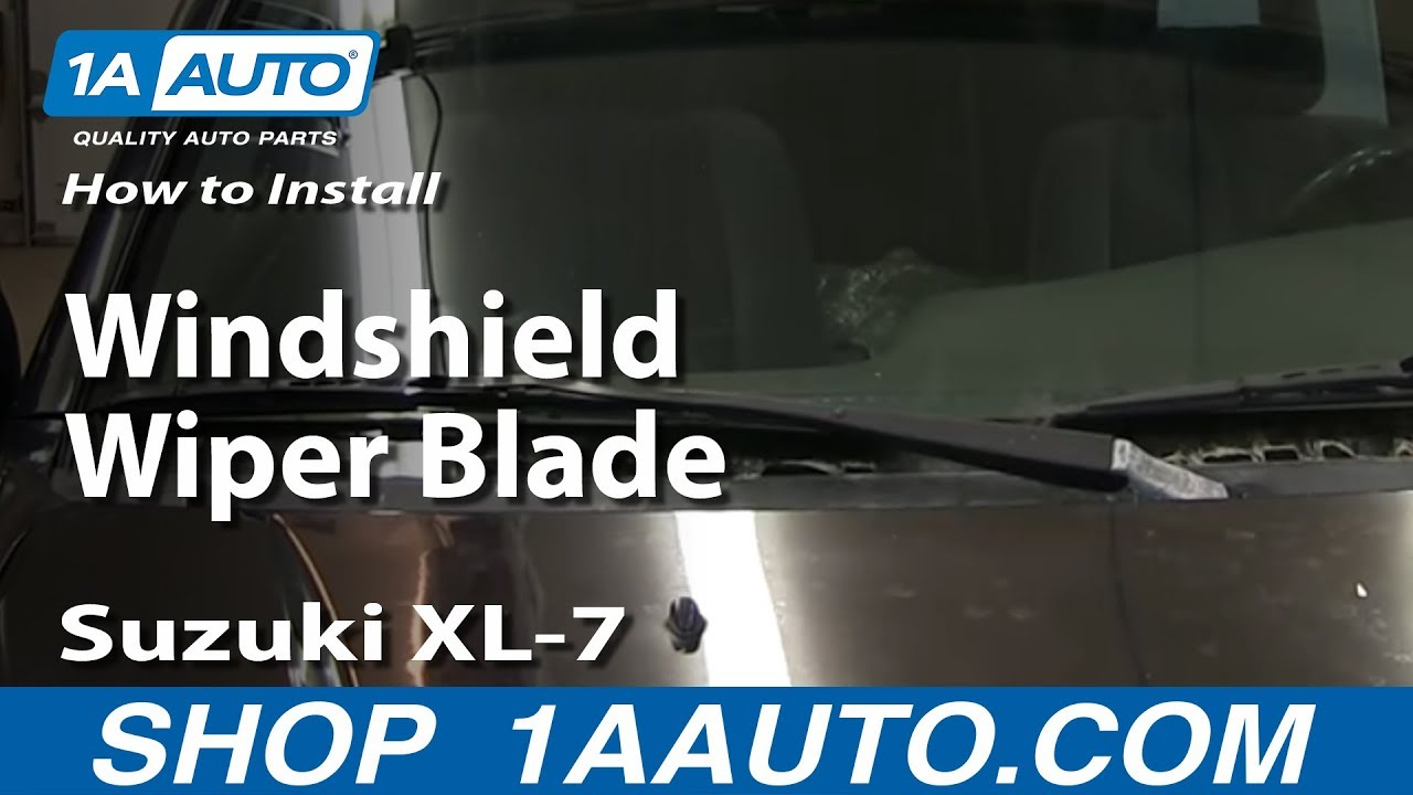 How To Install Replace Windshield Wiper Blade Suzuki XL7 and