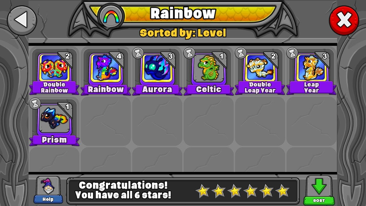 How To Breed All The Rainbow Dragons In Dragonvale Youtube