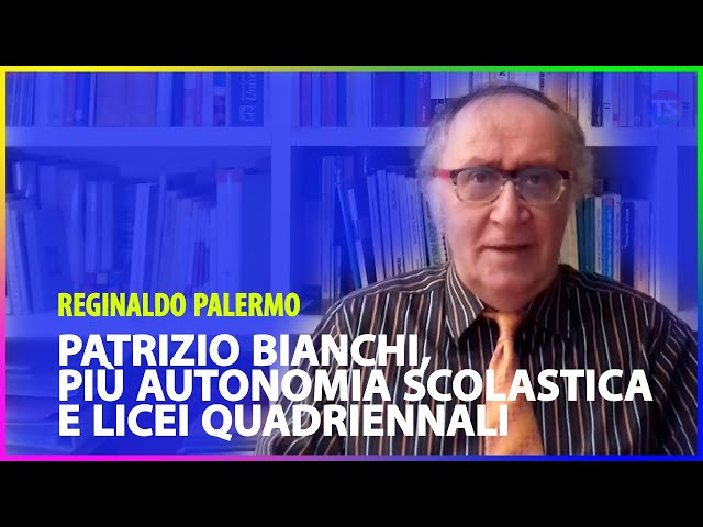 Patrizio Bianchi, più autonomia scolastica e licei quadriennali