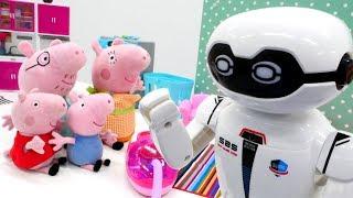 Видео с игрушками - Свинка Пеппа онлайн - Робот-уборщик