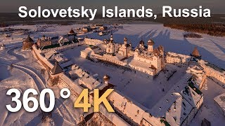 Solovetsky Islands, Russia. Aerial 360 video in 4K thumbnail