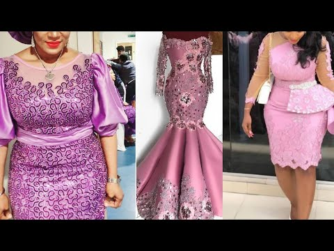 Download 45+ Latest Lace Styles Designs for Best Traditional Wedding || African fashion #asoebi styles