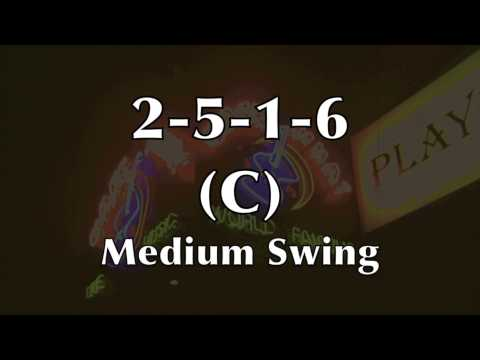 Medium Swing Jazz Backing Track (2-5-1-6 in C)