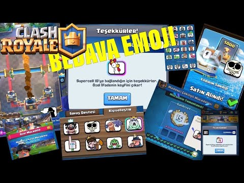 Clash Royale bedava emoji ücretsiz tavuk emojisi sadece 10 saniyede kazanılır tek roketle üç taç