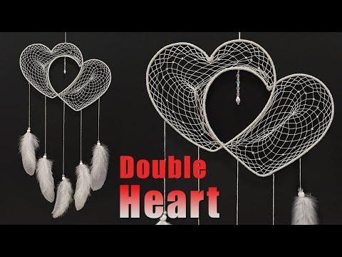 How to make Double Heart Dreamcatcher?  l Wedding Gift DIY Tutorial