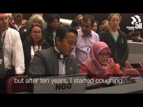 Siti Kristina, Indonesian asbestos victim