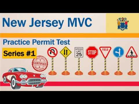 New Jersey MVC Practice Permit Test Series #1